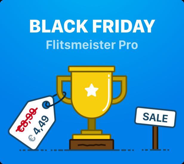 Flitsmeister Pro met korting tijdens Black Friday.