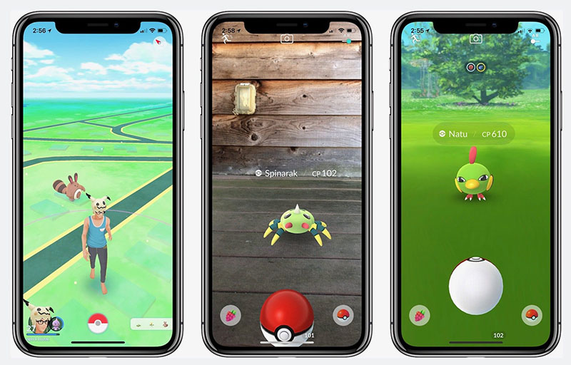 Pokémon Go op iPhone X