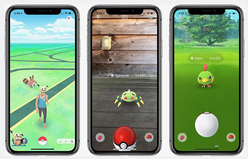 Pokémon Go op iPhone X