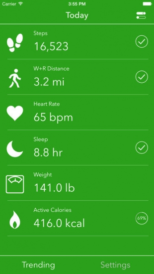 Dashboard Apple Health.