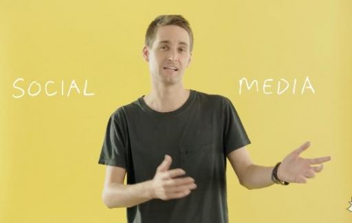 Snapchat-app koppelt social los van media.