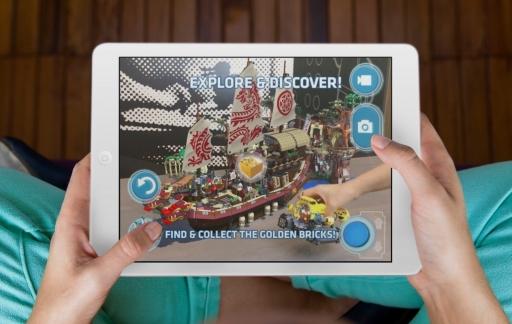 LEGO AR-Studio op iPad.