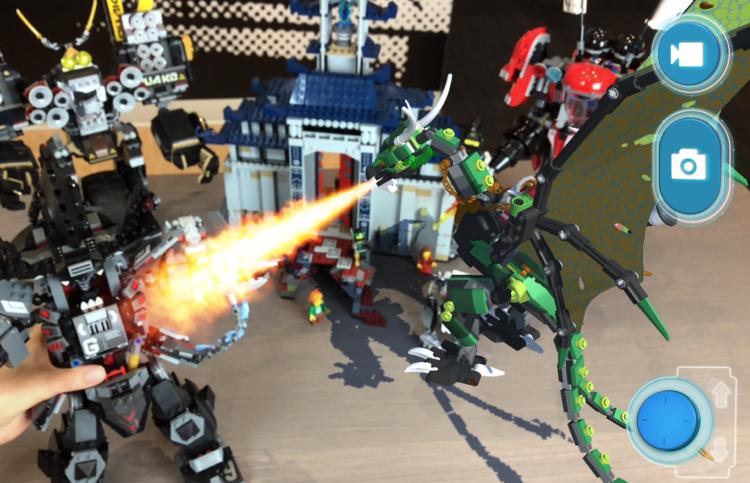 LEGO AR-Studio draak.