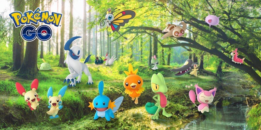 Pokémon Go derde generatie.