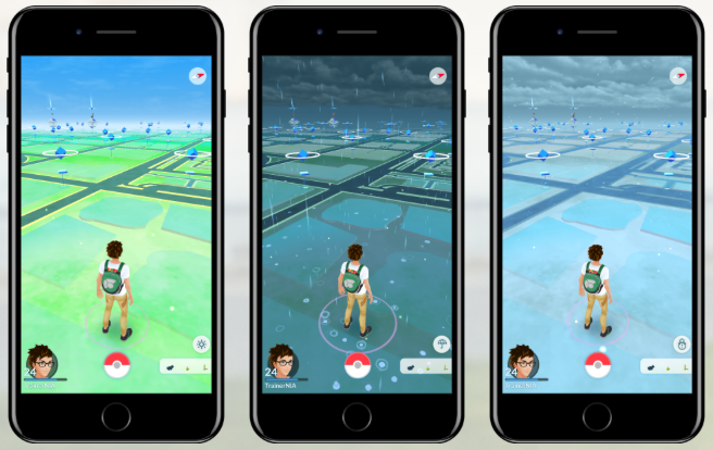 Weersomstandigheden in Pokémon Go.