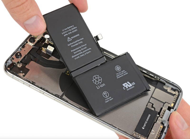 iPhone X L-vormige batterij, iFixit