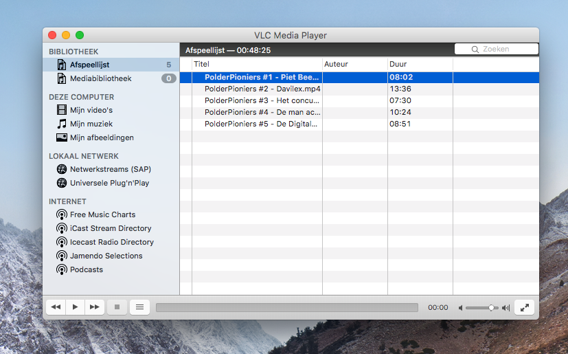 VLC afspeellijst aanpassen