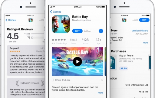 Games op de iPhone in de App Store.