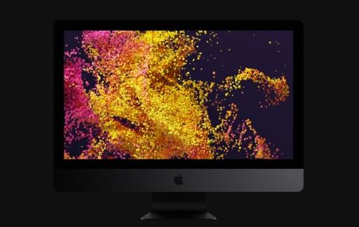 iMac Pro-scherm met verschillende kleuren.