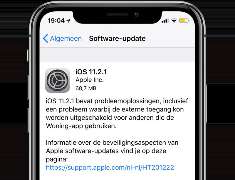 iOS 11.2.1 update