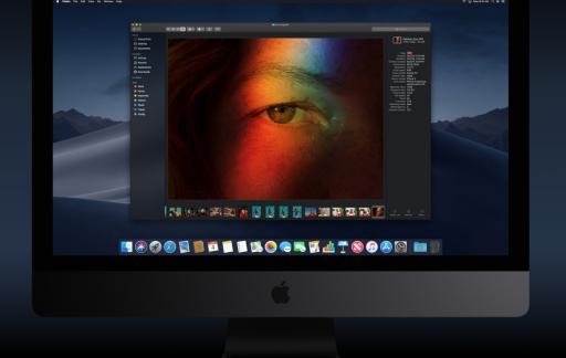 Dark Mode op een iMac.