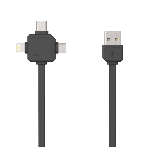 Allocacoc 3-in-1 kabel