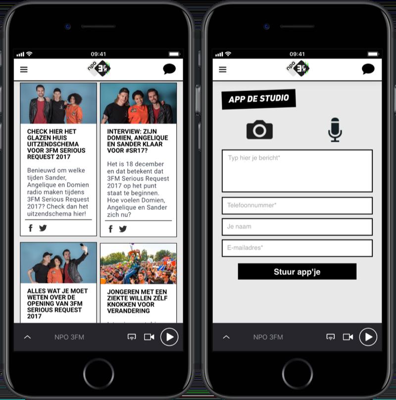 3FM-app met Serious Request 2017.