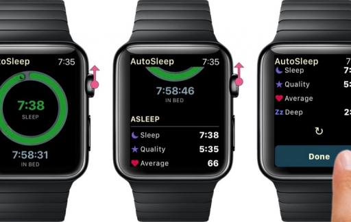 AutoSleep 5 op Apple Watch.