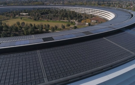 Apple Park drone video december 2017