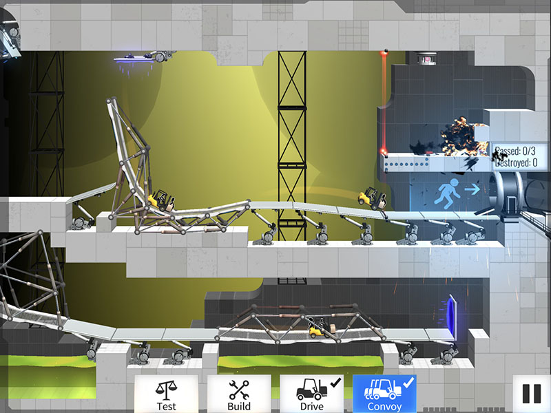 Bridge Constructor Portal op iOS