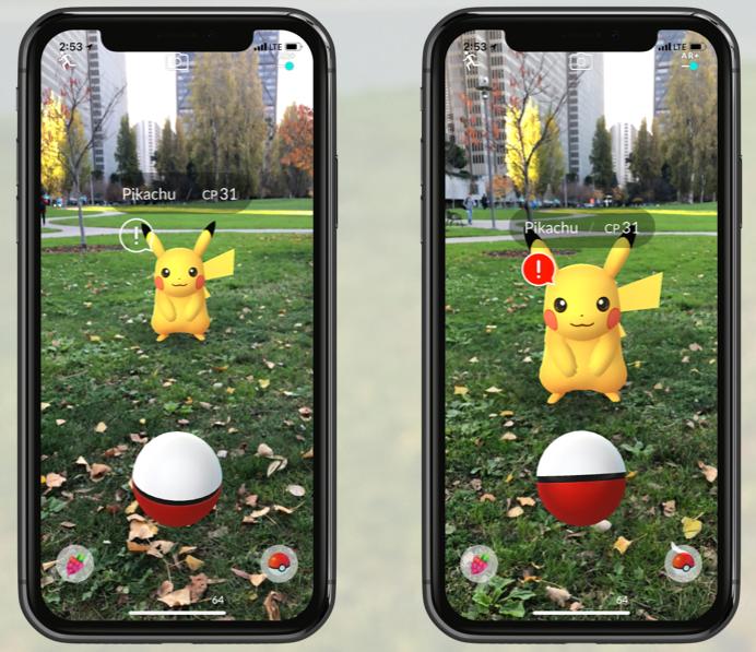 Pokémon Go AR+ met Pikachu.