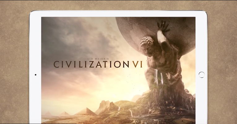 Civilization VI op iPad.