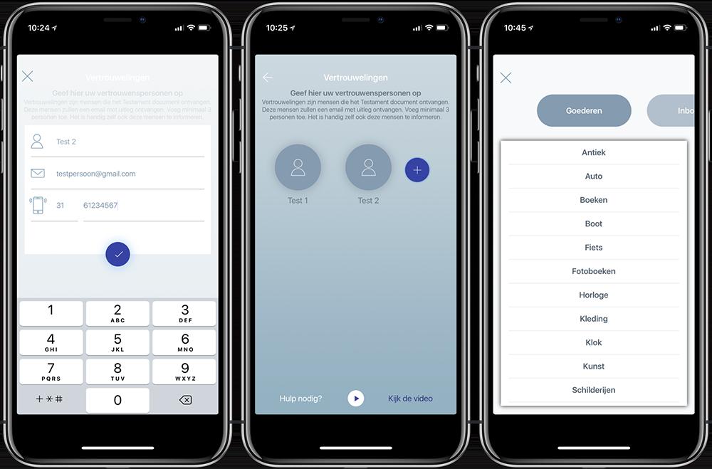 After app review: vastleggen van vertrouwelingen
