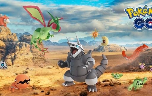 Pokémon Go Hoenn Pokémon uit de derde generatie.