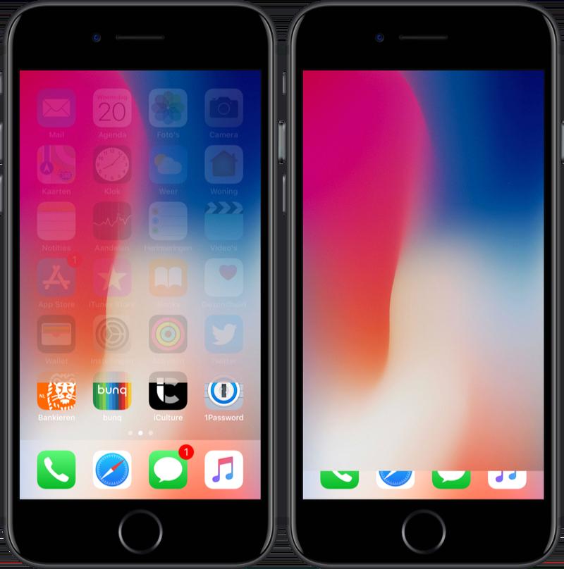 iOS 11 lock screen leeg.