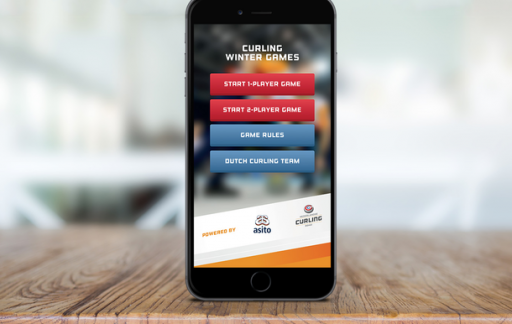 Curling Winter Games app.