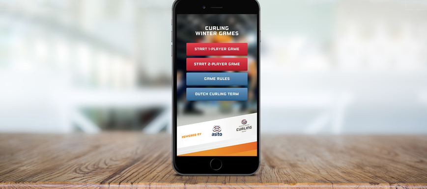 Curling Winter Games app.