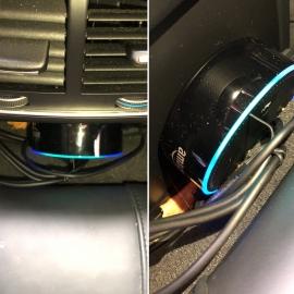 Amazon Alexa Echo Dot in Audi A5