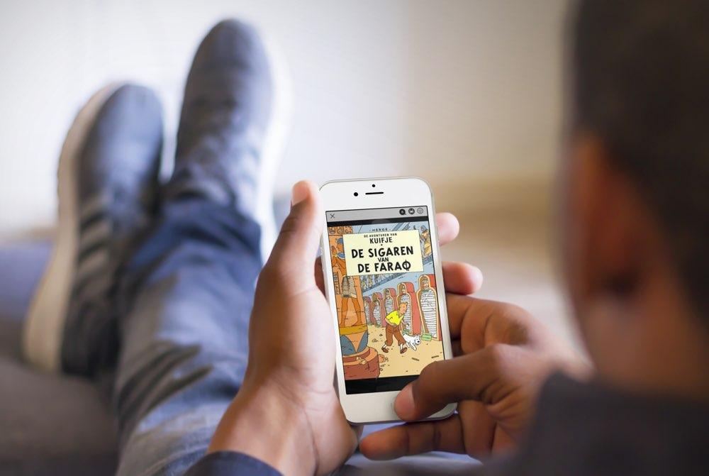 Kuifje stripverhalen lezen op iPhone en iPad