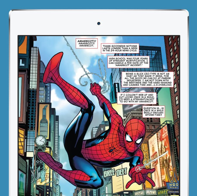 Spider-Man comics op iPad