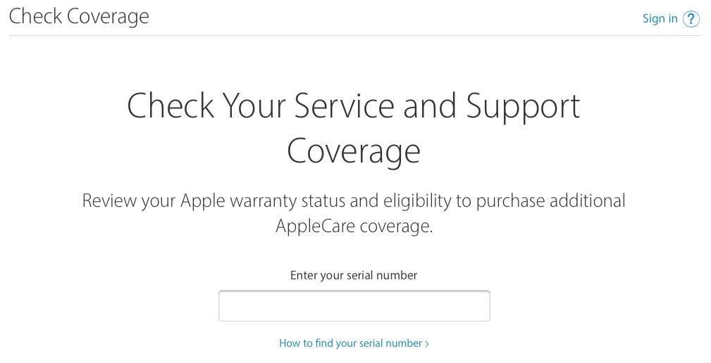 Apple garantie checken op vroegere dekkingspagina.
