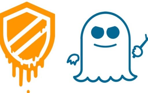 Meltdown en Spectre logo's.