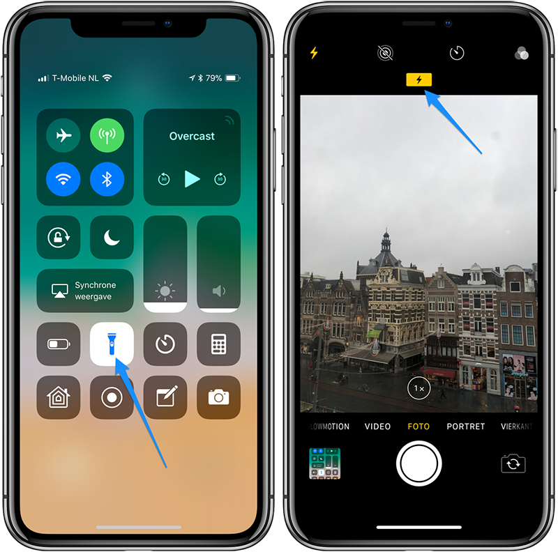iPhone-flitser defect