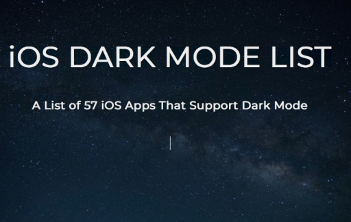 Dark Mode List.