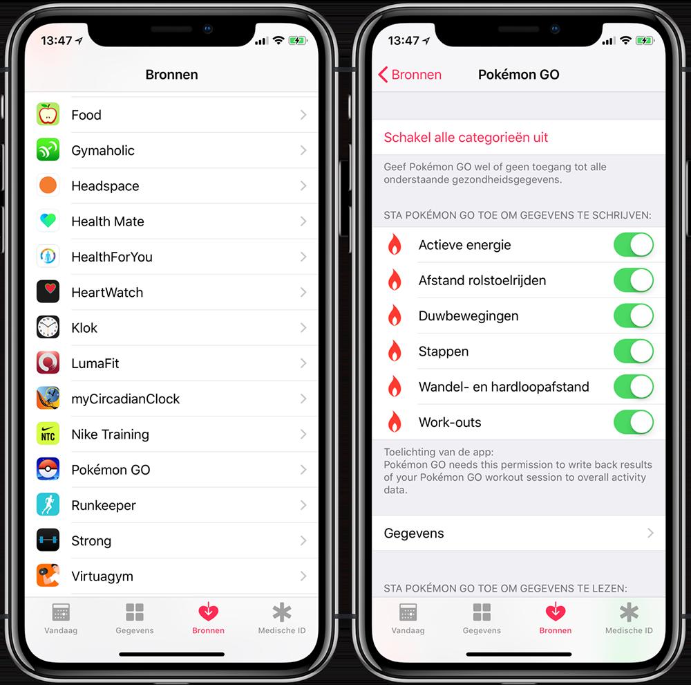 Toegang Gezondheid-app intrekken