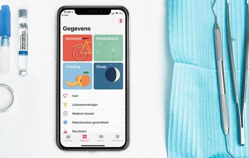 Gezondheid-app dashboard