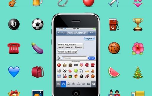 Eerste ontwerp van emoji's in 2008.