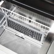 Machine van Amac voor MacBook met schade door water.