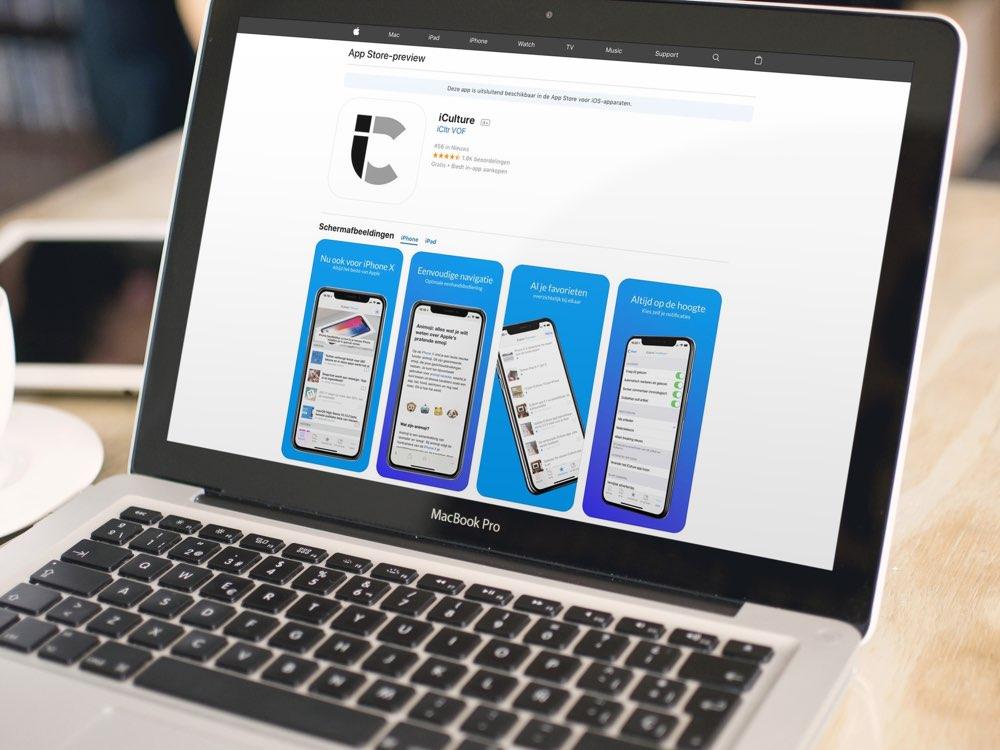 App Store webpagina iCulture-app
