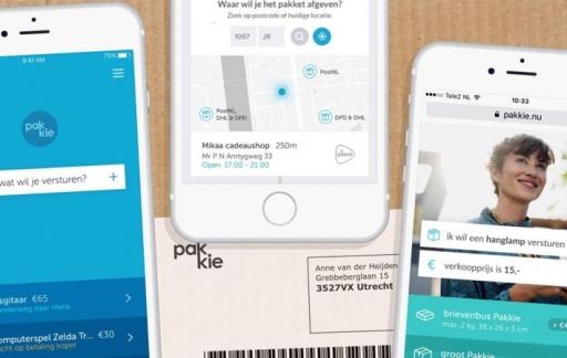 Pakkie app op iPhone