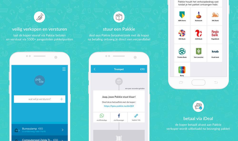 Pakkie-app: stappen
