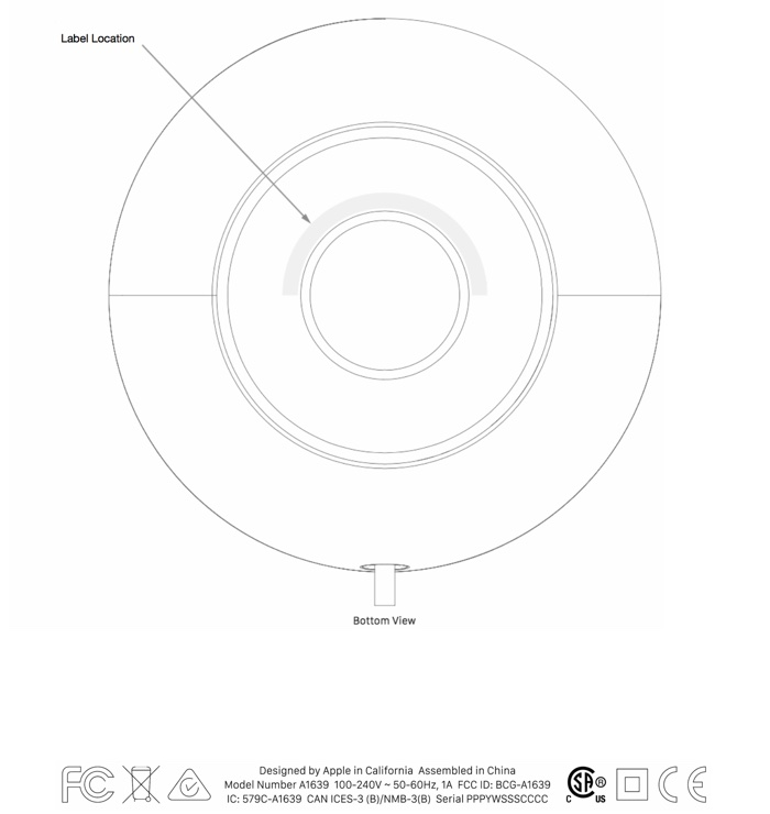 HomePod FCC-label