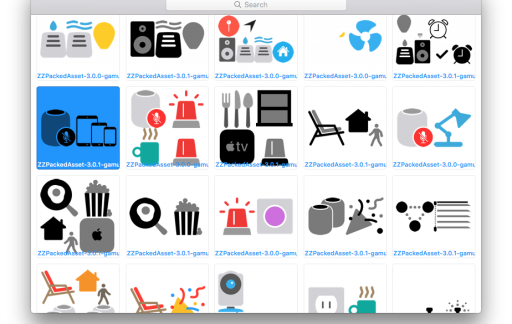 Siri HomeKit icoontjes
