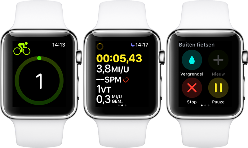 Apple Watch: fietsen met de Workout-app
