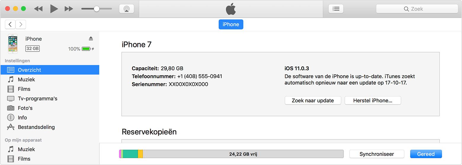 macOS iTunes synchroniseren