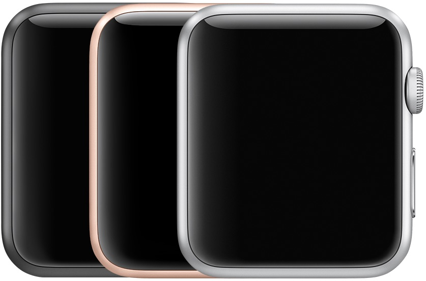 Apple Watch Series 3 in aluminium.
