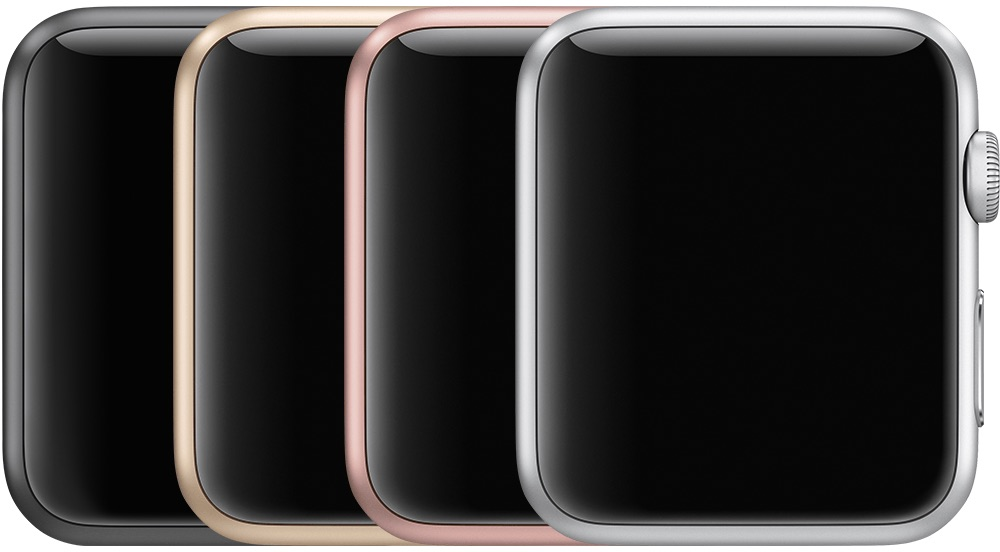 Apple Watch Series 1 in aluminium.