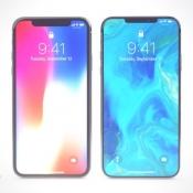 iPhone X en iPhone XI concept met dunnere schermranden.