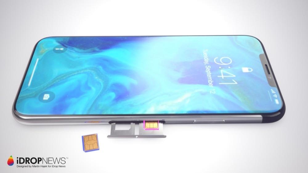 iPhone XI concept met dual-SIM.