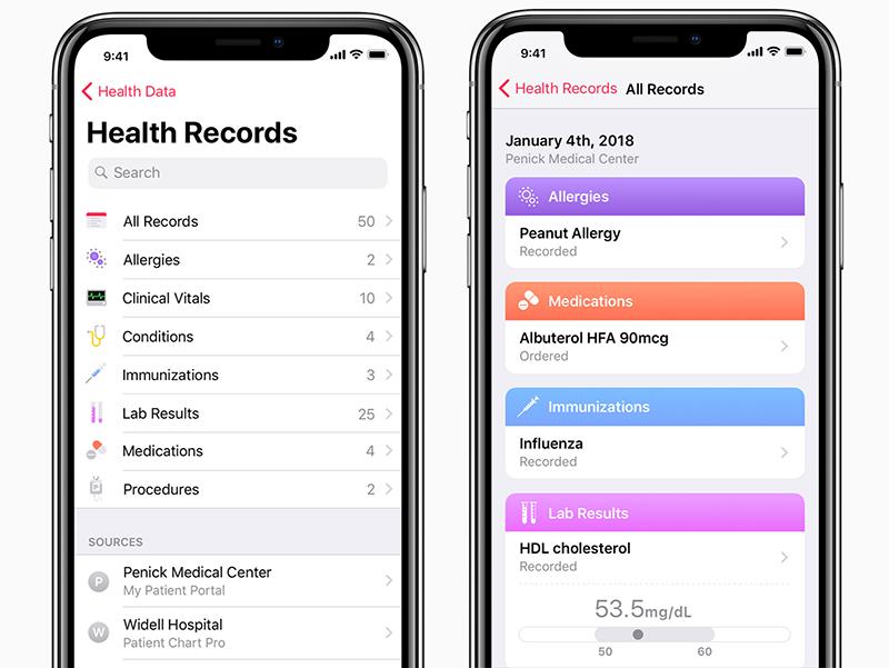 Health Records: medisch dossier in iOS 11.3 beta